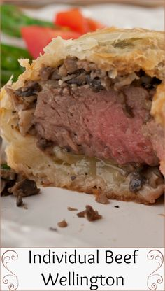 "People often assume that I always eat fancy dinners at home. I have a friend who used to kid around and say, ""What are you having for dinner tonight: Beef Wellington?"" Well, that was because he thought it was a really complicated dish. Beef Wellington Recipe, Wellington Food, Protein Lunch, Healthy Protein, Individual Beef Wellington, Dinner Menu, Dinner Ideas, Night Food, Dinner Tonight"