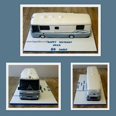 Surprise birthday cake for the gentleman who loves his motorhome. 40th Birthday Cakes, Birthday Cakes For Women, Dad Birthday, Surprise Birthday, Happy Birthday, Camper Cakes, Motto, Bus Cake, Anna Cake