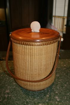 my favorite Ice Bucket -- Cherry trimmed, ivory shell Nantucket. Sold.