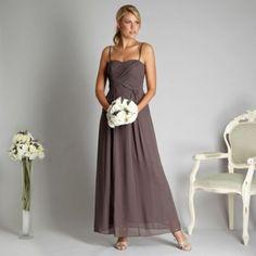 Debut Light brown cross over pleat bandeau maxi dress- at Debenhams.ie