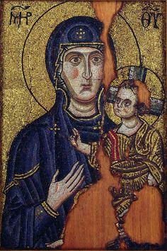 Одигитрия около 1200 г. Ризница манастира Хиландара.