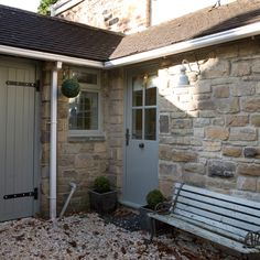 Modern Country Style: The Top Ten Front Door Paint Colours For Cotswold Stone Houses Exterior Doors, Exterior Paint, Exterior Design, Front Door Paint Colors, Painted Front Doors, Modern Country Style, Modern Exterior, French Exterior, Grey Exterior