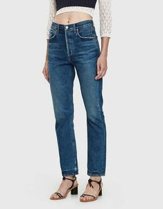 Citizens of Humanity Charlotte Straight Leg Jean in Undertone Mom Jeans Outfit, Mom Outfits, Denim Tees, Plaid Blazer, Citizens Of Humanity, Stretch Denim, Suits For Women, Skinny Jeans, Legs