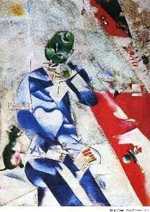 Bougie , palette , tête de taureau rouge, huile sur toile de Pablo Picasso (1881-1973, Spain)