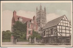 """Old Parliament House, Palace Yard, Gloucester, - Millar & Lang Postcard """" Gloucester Cathedral, Postcards For Sale, Houses Of Parliament, Advertising Photography, Old Paper, Rest Of The World, Glasgow, 1930s, Palace"""