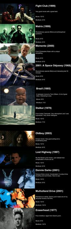 Need some mindf**k movies?