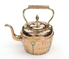 French Arts and Crafts copper kettle #artsandcrafts