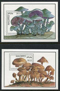 Maldives 1229-1230, MNH, Mashrooms Fungi. x3213
