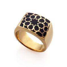 LAMA GOLD BLACK RING | Luxury Jewelry & Tableware | Merdinger House of Design