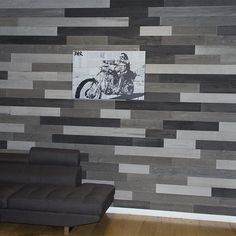 """Shipping included on all products.  Just released, our Reclaimed, Weathered Pine walling measures just 3/16"""" of an inch thick, allowing for lightweight, creative installations. Planks vary widely in color, creating a beautiful mosaic effect.  Each box contains a variety of random-length planks, ranging from 12 to 48"""" long, for a natural, organic look.    Planks measure 5"""" wide x up to 48"""" long x 3/16"""" thick. Simply peel off the permanent adhesive backing and place directly onto your wall…"""
