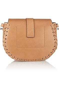 Tan leather, chocolate suede (Calf) Magnetic-fastening front flap Comes with dust bag Designer color: Peanut