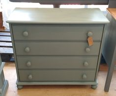 Annie Sloan Chalk Painf Chest Of Drawers Duck Egg Blue Painted Chest, Duck Egg Blue, Annie Sloan Chalk Paint, Chest Of Drawers, Painting, Home Decor, Drawer Unit, Decoration Home, Dresser