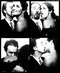 Edward Norton and Salma Hayak when they were in love. That bottom left picture is EVERYTHING.