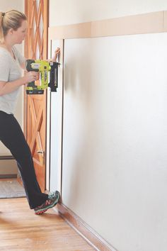 Nice post which has a lot of the maths. The complete guide to adding board and batten to your home wainscoting/panelling Home Improvement Projects, Home Projects, Casa Clean, Board And Batten, Living Room Remodel, Basement Remodeling, Basement Storage, Basement Gym, Basement Laundry