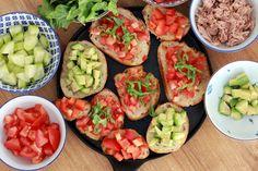 Bruschetta and salad