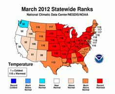 MAPS: March Was an Epically Weird Weather Month