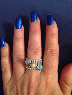 adf6f6985 Pandora birthstone rings stack | Jewelry | Jewelry, Stackable ...