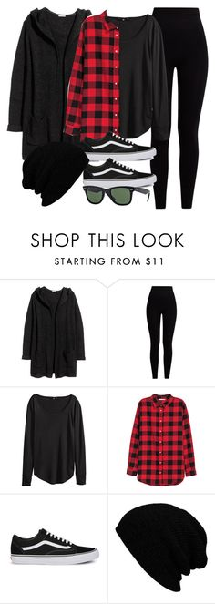 """Sin título #12013"" by vany-alvarado ❤ liked on Polyvore featuring H&M, Pepper & Mayne, Vans, KBETHOS and Ray-Ban"