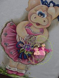 Pano de prato pintado por Lilica Moleca.Risco Original Lilica Moleca. https://www.facebook.com/LilicaMoleca