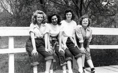 Vintage Photo BLue Jeans and Bobby Sox Girl Gang by maclancy
