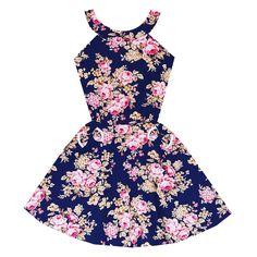 Midnight Garden Soiree Dress