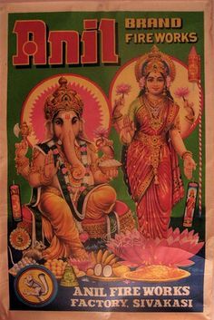 Vintage Indian fireworks poster by ✎☁Iron Lace☁✎, via Flickr