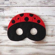 Masquent de coccinelle masque feutre Kids par AnnsCraftHouse