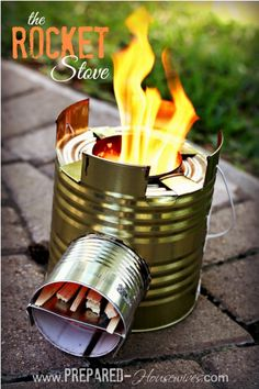 DIY can rocket stove for camping this summer. #diy #can stove #camping