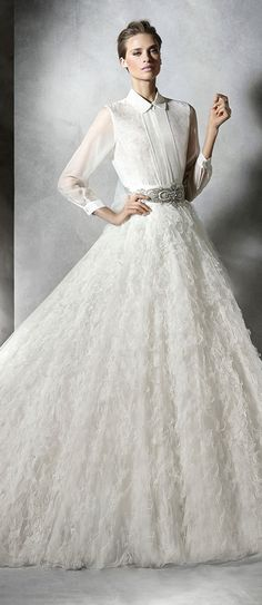 pronovias unique pleasure wedding dresses 2016 collection