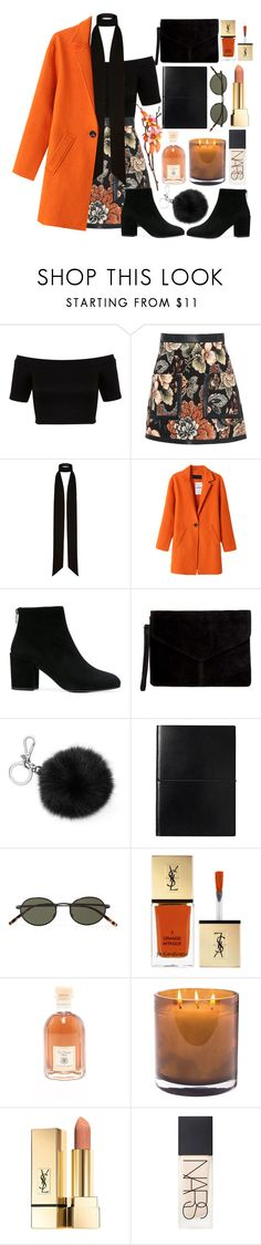 """""""Winter is coming."""" by fashioneex ❤ liked on Polyvore featuring Miss Selfridge, STELLA McCARTNEY, River Island, Stuart Weitzman, MICHAEL Michael Kors, Oliver Peoples, Yves Saint Laurent, Dr. Vranjes, Laura Mercier and PUR"""