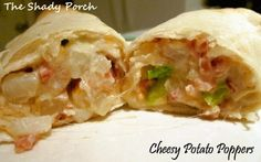 Potato Poppers Wraps