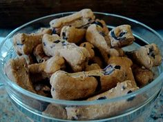 Blueberries Nut n Honey Dog Treats. 2-2 1/2 cups of Flour, 1/2 cup of Oats, 1 cup of Blueberries, 1/3 cup of Peanut Butter, 2 Tbsp Honey, 2 Tbsp – 1/4 Oil, 1 1/3 cup of Water.