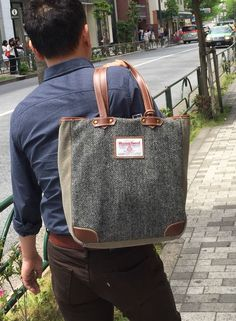 #mensbag #tokyofashion #harristweed #aoyama #spring2015