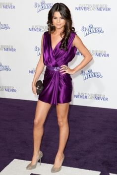 SelenaGomez ~ SelenaStyles~ FindThyneFinefashion Passion and .. Mission!. iC_ChromiumPurpleC/WHintOf'Magenta'Spice!. (Or as some Say 'purple dress' )