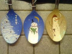 Spoons I've painted