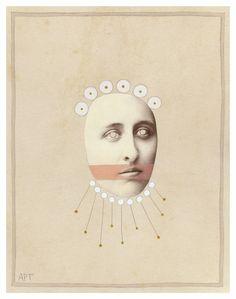 "Saatchi Art Artist Athena Petra Tasiopoulos; Collage, ""Stoma #1"" #art"