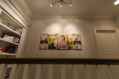 Last week we showed you how we decorated our home with canvases from our family shoot taken by Amy and Jordan Photography. Amy And Jordan, Hanging Wall Art, Frames On Wall, Photo Wall, Display, Photography, Ideas, Home, Decor