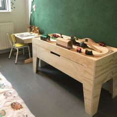 Super fine console with spacious drawer! Made of Chilliplex (plywood) // child . - Super fine console with spacious drawer! Made of Chiliplex (plywood) // nursery inspiration // idea -