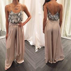 fuseau pants with strappy top