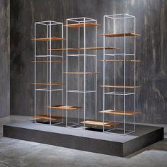 Shelves That Seem To Float In Metal Frames - by Ron Gilad ~ Modernistic Design