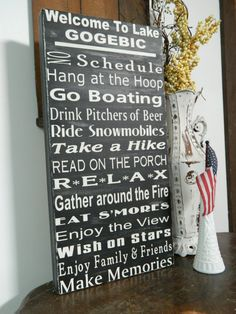 Lake rules wood sign12x24 lake house decor by CountryFolksCreation, $55.00