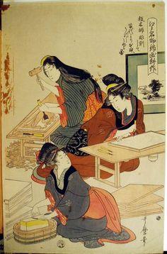 Kitagawa Utamaro  Création d'une estampe