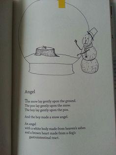 From Bo Burnham's poetry book Egghead