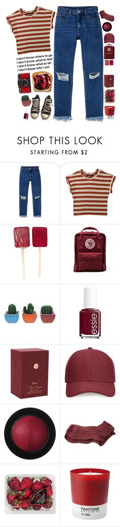 """""""existential crisis"""" by mrac ❤ liked on Polyvore featuring Monki, Humör, Fjällräven, Essie, Harrods, Whistles, Sephora Collection, Polder, FRUIT and Pantone"""