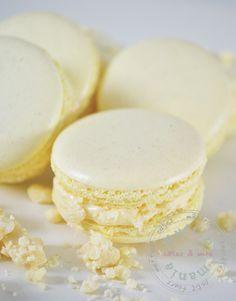 Witte chocolade macaron