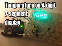 In this project I'll display the temperature in a 4 digit 7 segment display (common anode). The sensor is the cheapest you can find so actually the temperature changes pretty easily which makes the...