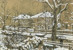 View Hammersmith Grove by Ruskin Spear on artnet. Browse upcoming and past auction lots by Ruskin Spear. Color Crayons, Brown Canvas, London Art, Global Art, Feeling Special, Brown Paper, Art Market, Gouache, Colored Pencils