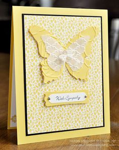 Card Creations by Beth: Butterfly Sympathy; stampin up