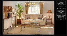Ambiente de salón con muebles en forja de venta en nuestra tienda de Madrid. http://www.originalhouse.info/