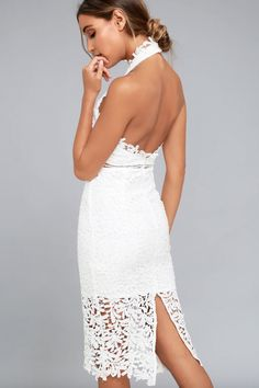17bb4d81e7f DIVINE DESTINY WHITE LACE MIDI DRESS